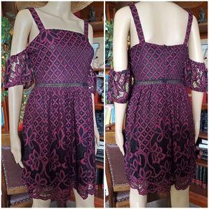"""""""Francesca"""" Cold Shoulder Mini Dress"""